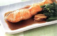 鮭とにらの煮物