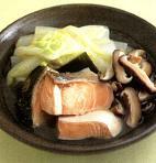 塩鮭と白菜の塩煮