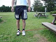 大腿部の外側(立位)
